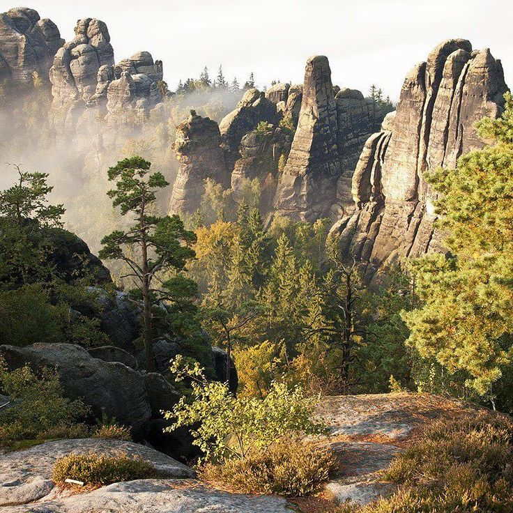 #Schrammsteine im Morgenlicht. #Elbsandsteingebirge #SächsischeSchweiz Credits: Phillip Zieger #wandermärchen #saechsischeschweiz