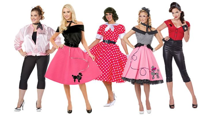 1950s Costumes for Women! #partycostumehouse #iLoveLucy #Grease #poodledress