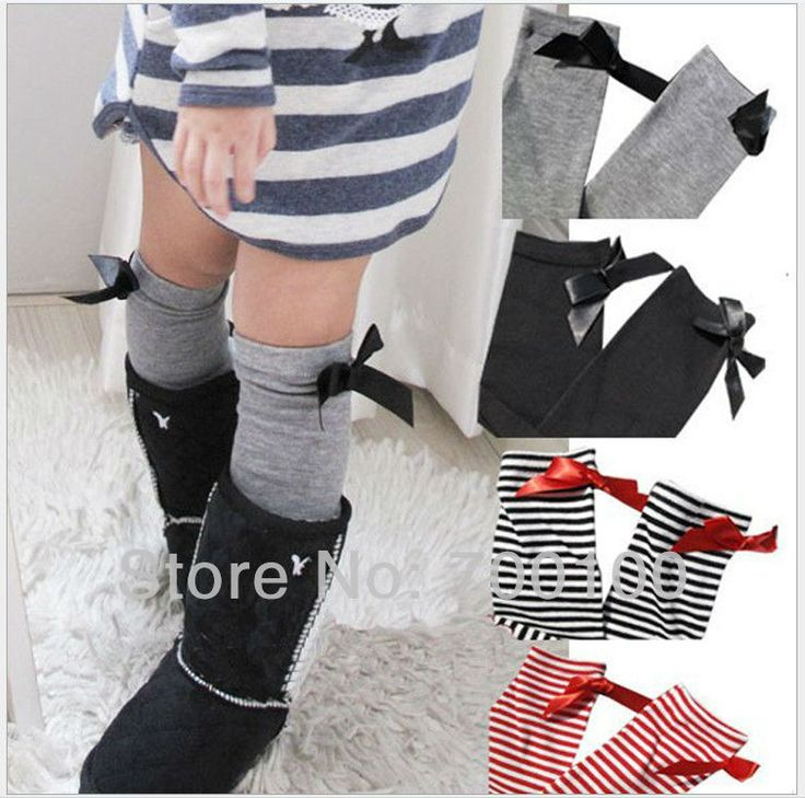Knee socks with side bows - cute!