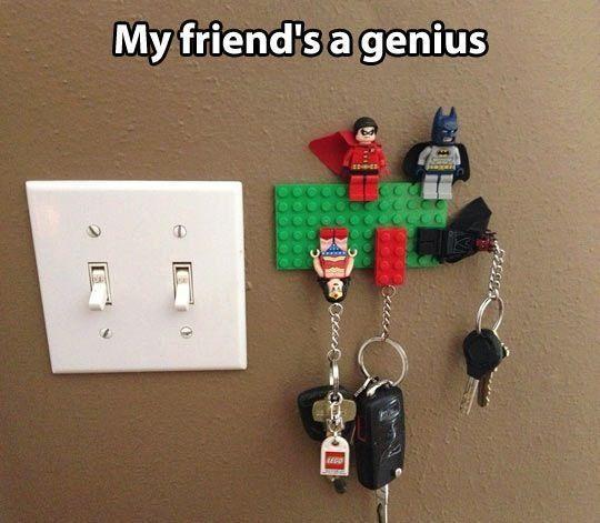 Lego key holders