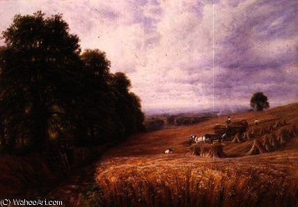 Apporter la récolte de Edmund George Warren (1834-1909, United Kingdom)