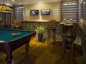 Man Caves Bert The Conqueror : Nice guitar themed basement man cave but check out the lower