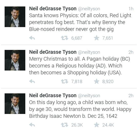 Neil deGrasse Tyson on Christmas. Can we just have a Tyson channel, please?