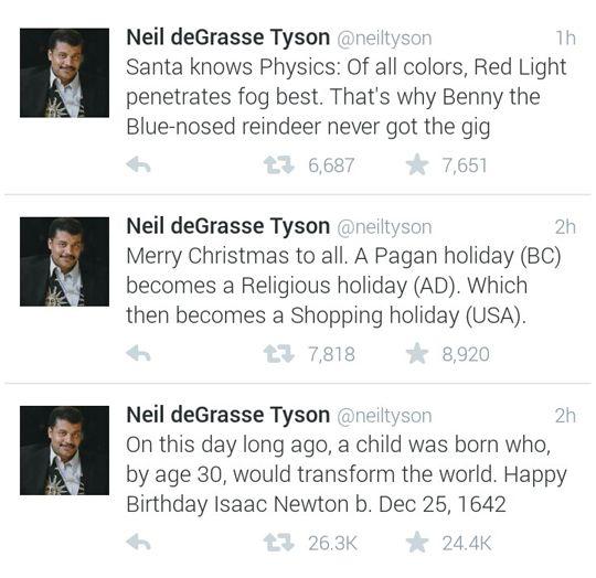 Neil deGrasse Tyson on Christmas