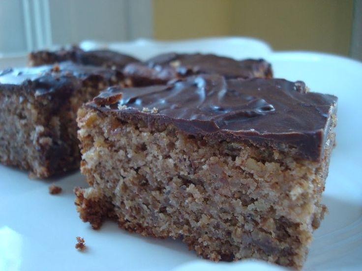 Passover Banana Nut Cake with Chocolate Icing