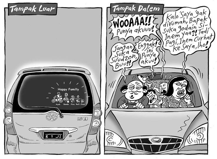 Mice Cartoon, Kompas 31 Agustus 2014: Happy Family (Tampak Luar dan Tampak Dalam)