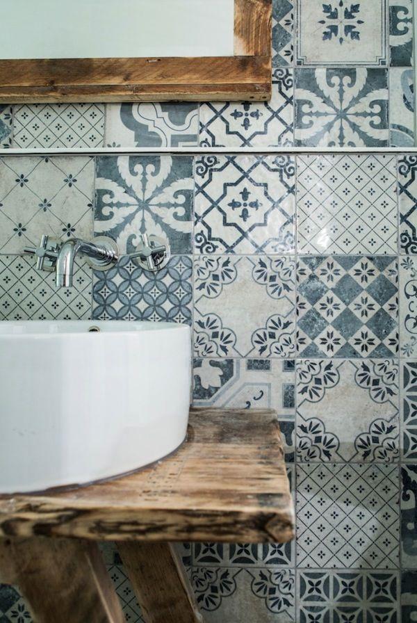 Ciments béton bois carreaux de ciments papiers peints fer métal