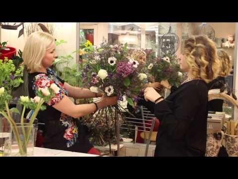Мастер-класс - букет на каркасе с сиренью и розами, студия цветов Slava Rosca - YouTube