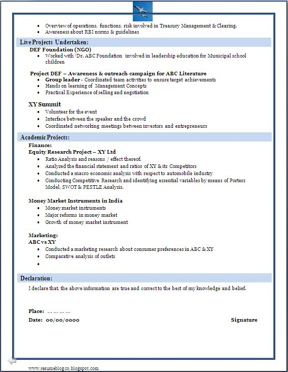 24 best Resume Download images on Pinterest Sample resume - sample mba application resume