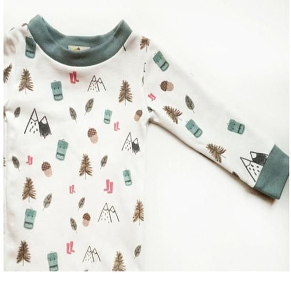 Teal Woodland Pajama Set organic hand made in the US organic cotton Organic Baby Clothes and Onesies, Funny Baby Clothes, Cute Baby Clothes, Handmade Baby Clothes, Hippie Mom