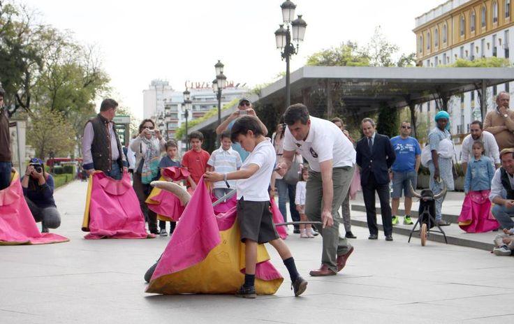 Actividades taurinas para niños, organizadas por la Maestranza de Sevilla el pasado mes de marzo.