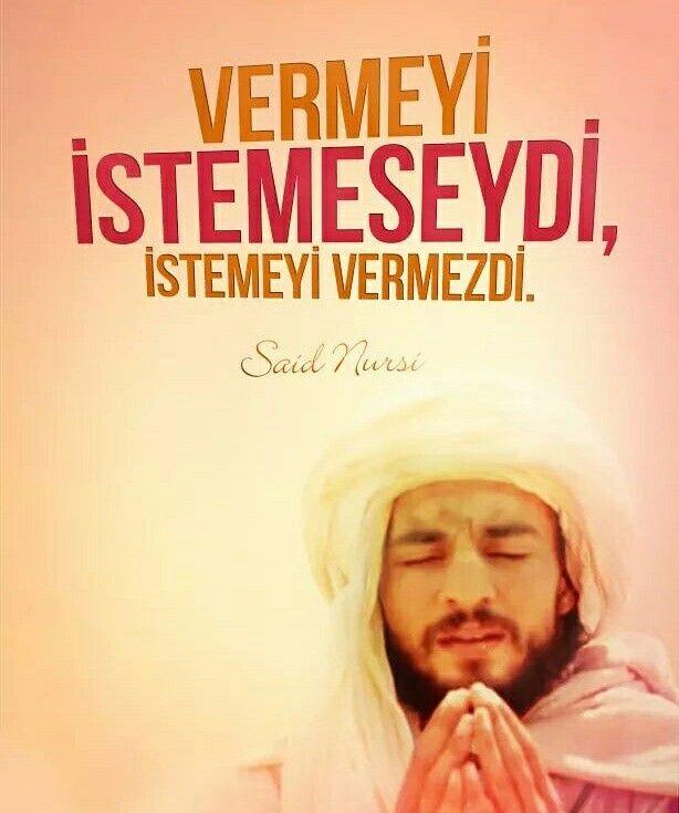 "☝ ""Vermeyi istemeseydi, istemeyi vermezdi.""  | Said Nursi  (Allah ona rahmet etsin) Mektubat, s.302  #saidnursi #bediüzzaman #verme #isteme #söz #sözler #islam #müslüman #ilmisuffa"