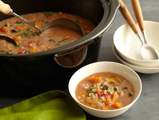 Slow-Cooker Bean and Barley Soup recipe from Food Network Kitchen via Food Network
