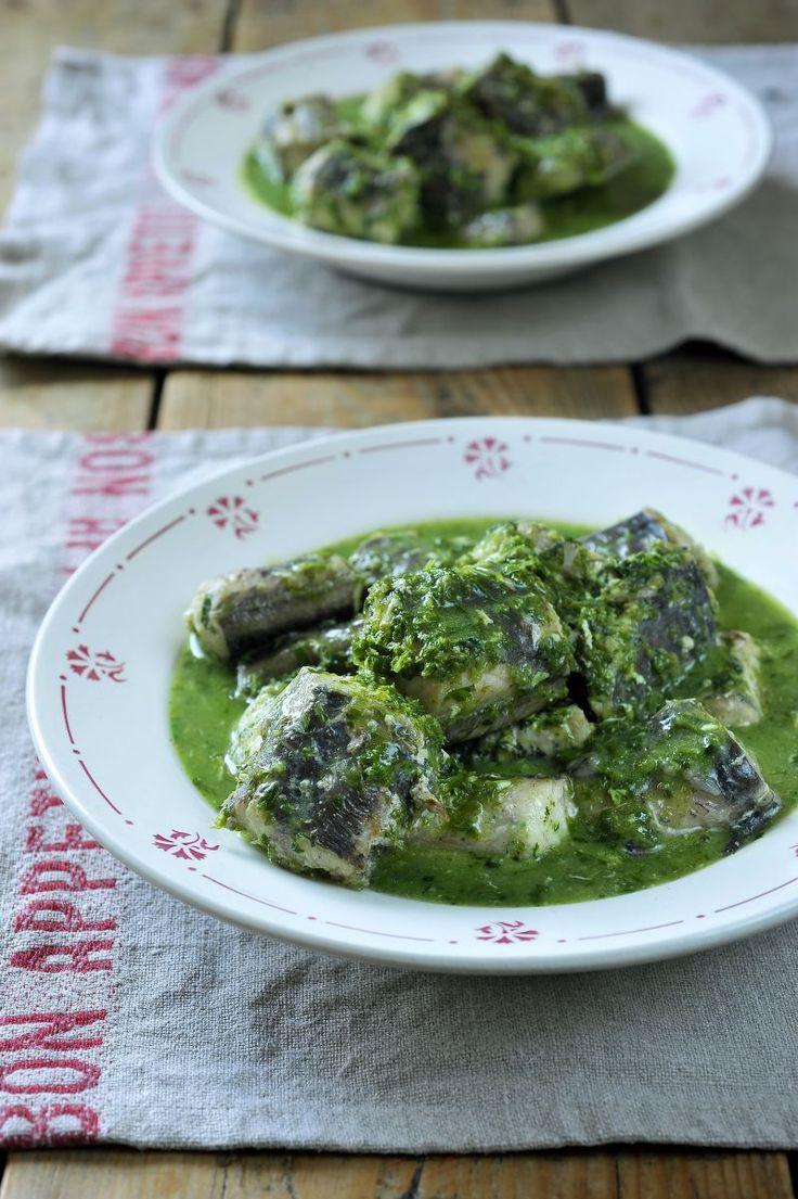 Snelle paling in't groen http://www.njam.tv/recepten/snelle-paling-int-groen