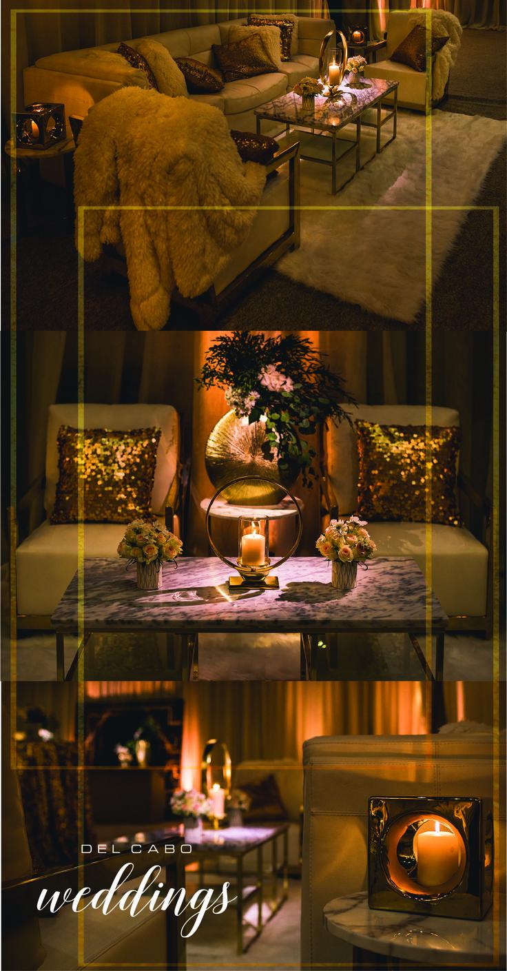 Metallic wedding décor! Feel like a Hollywood star with a metallic wedding!