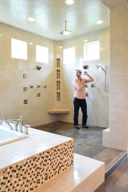 9 best images about big showers on pinterest big shower for Huge walk in shower