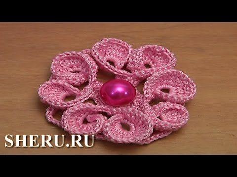 Цветок с лепестками в виде сердечек Урок 118 - YouTube
