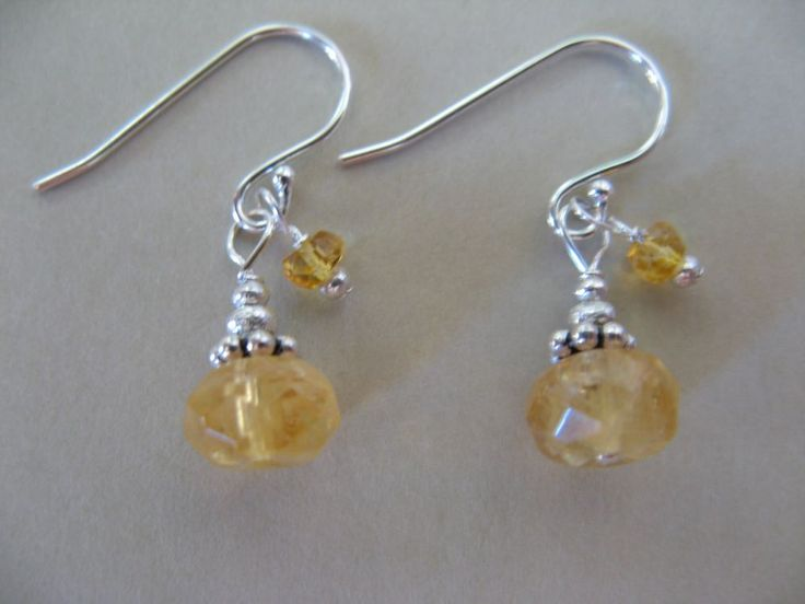 Sundance Jewelry Treasures Citrine Gemstone Sterling Silver Earrings Artisan #CornerStoneSundanceTreasuresJewelry #DropDangle