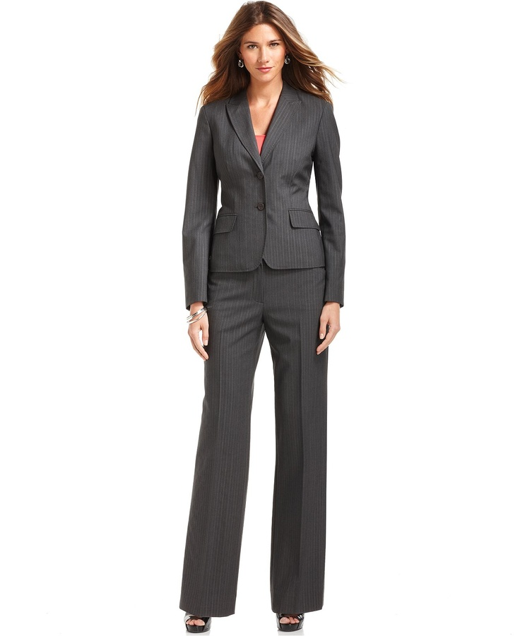 klein pinstripe suit separates collection womens