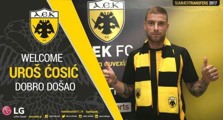 Ποδοσφαιριστής της ΑΕΚ και επίσημα είναι από το βράδυ της Δευτέρας (3/7) ο Ούρος Τσόσιτς, ο οποίος υπέγραψε τριετές συμβόλαιο συνεργασίας, με δικαίωμα ανανέωσης για έναν ακόμα χρόνο!