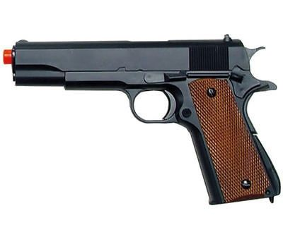 awesome NEW UTG UHC M 1911 SPRING AIRSOFT PISTOL HEAVY WEIGHT GUN BLACK w 6mm BB BBs - For Sale