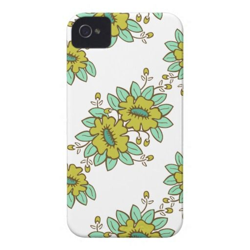 Abstract floral pattern iPhone 4 case