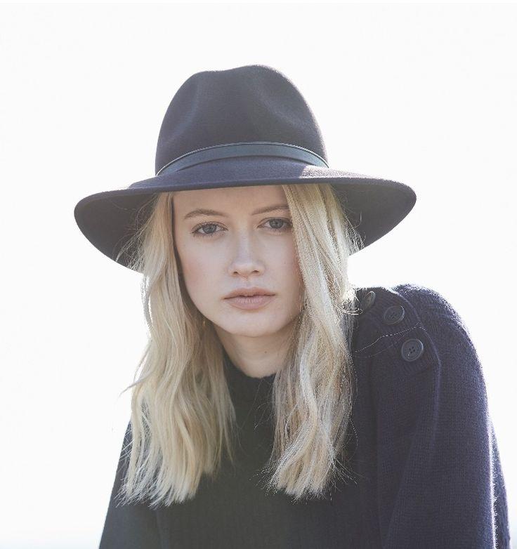 Penmayne of London hats | Winter's Mood | Midnight Blue Willow Fedora