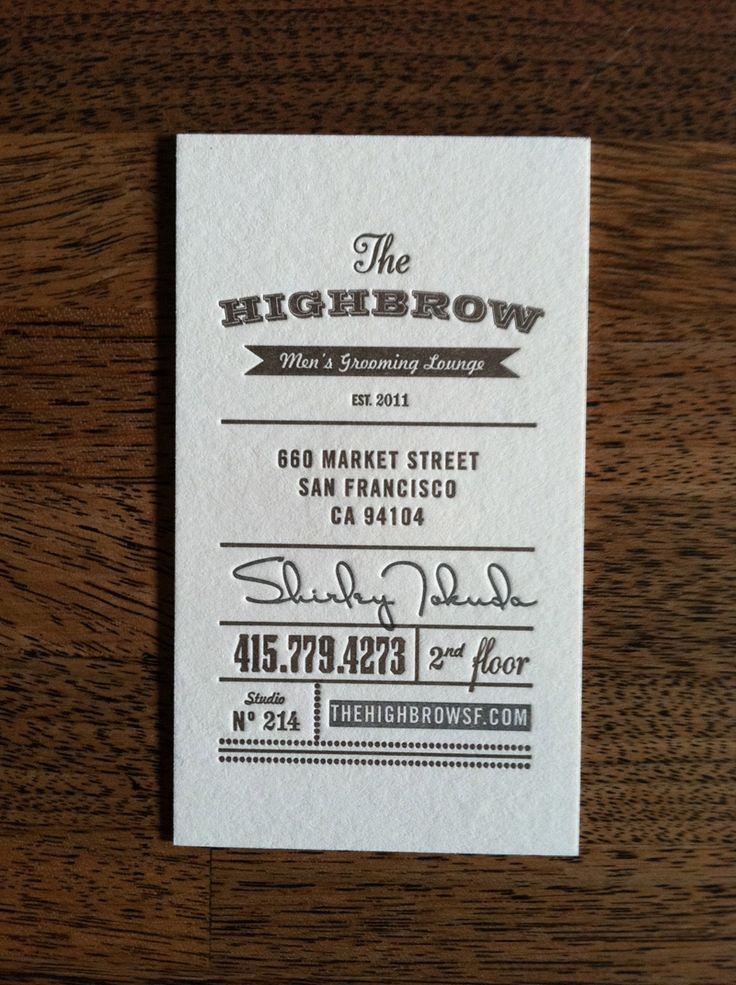 letterpresses business card