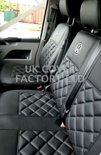 Vw Transporter T5 Van Seat Covers Badge Bentley 150bk Bk Sc