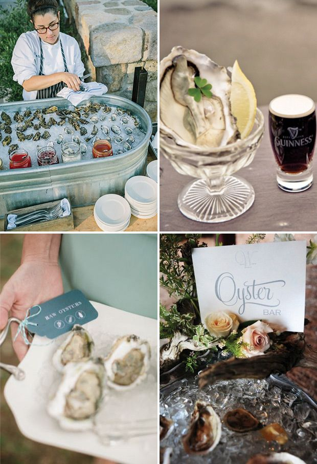 Oyster Station | a delicious new wedding foodie trend | See more great wedding food ideas on www.onefabday.com