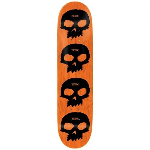 Zero Skateboards Zero Multi Skull HYB R7 Deck Black/Orange 8.125x31.7