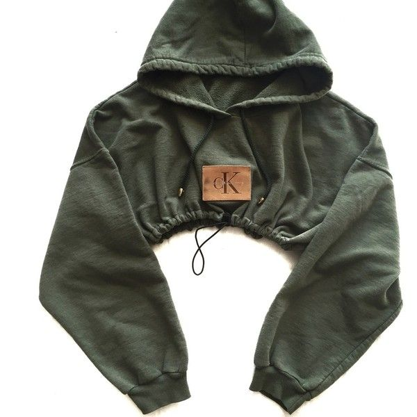 Reworked CK Patch Crop Hoody ($48) ❤ liked on Polyvore featuring tops, hoodies, hooded pullover, hoodie top, hoodie crop top, hooded sweatshirt and sweatshirt hoodies