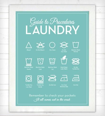 Guide to Procedures Laundry Room Print By Lettered & Lined on Scoutmob Shoppe. A brilliant piece of functional art for the laundry room. $18