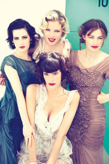 The ladies of Boardwalk Empire. All Very talented. Paz de la Huerta, Gretchen Mol, Aleksa Palladino and Kelly Macdonald.