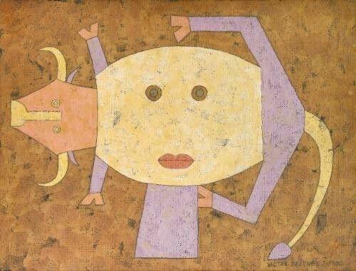Gros plan fixe d'une metamorphose, 1960