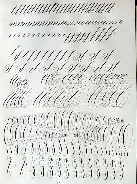 warm up by estefa more photos calligraphy training calligraphy ...
