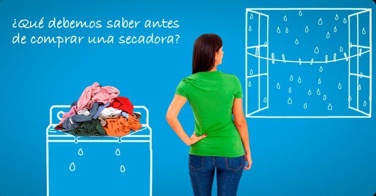 ¿Qué debemos saber antes de comprar una secadora?