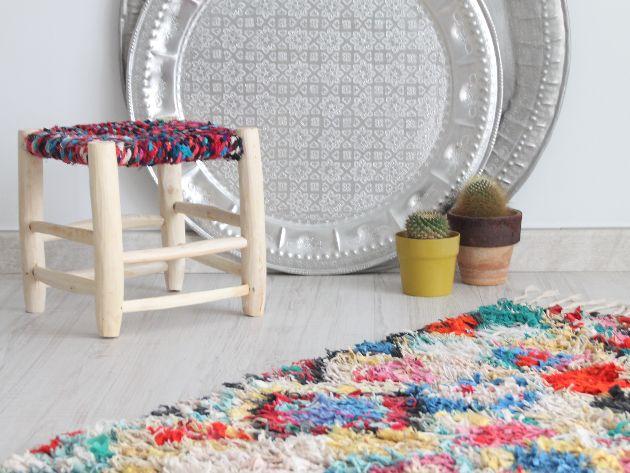 taburete marroqui hecho a mano con madera y lana. moroccan kids decoration. moroccan stool. dar amïna shop  http://daramina.bigcartel.com/products