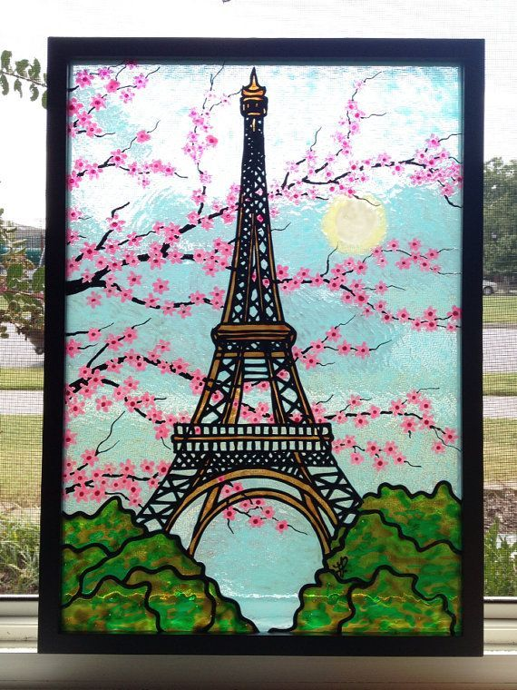 All Kinds Of Gifts And Miss Piggy By Elizabethgraf On Etsy Eiffeltower All Kinds Of Gifts Eiffel Tower Painting Art Drawings Simple Nature Art Painting