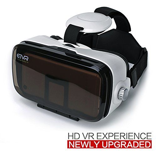 ETVR Upgrade Immersive 3D VR Headsets -Your Private Movie Theater More Lighter More Thinner Virtual Reality Glasses Fit For iPhone / Samsung Galaxy / LG/ HTC Smartphones Series Etc.( 4.5-6.2 Inches )