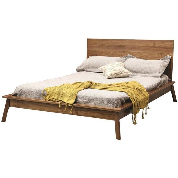 Hastingwood Mid Century Modern Panel Bed (57,355 PHP) ❤ liked on Polyvore featuring home, furniture, beds, platform bedroom sets, mid century platform bed, mid century bed, king size headboard and platform bed