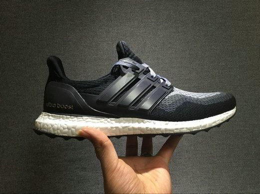 Free Shipping Only 69$ adidas Ultra Boost 2016 Charcoal Grey Black White In the Hand