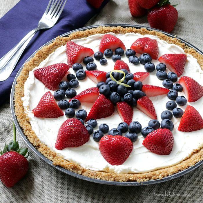 Skinny Berry Cheesecake Bars