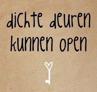 Dichte deuren kunnen open
