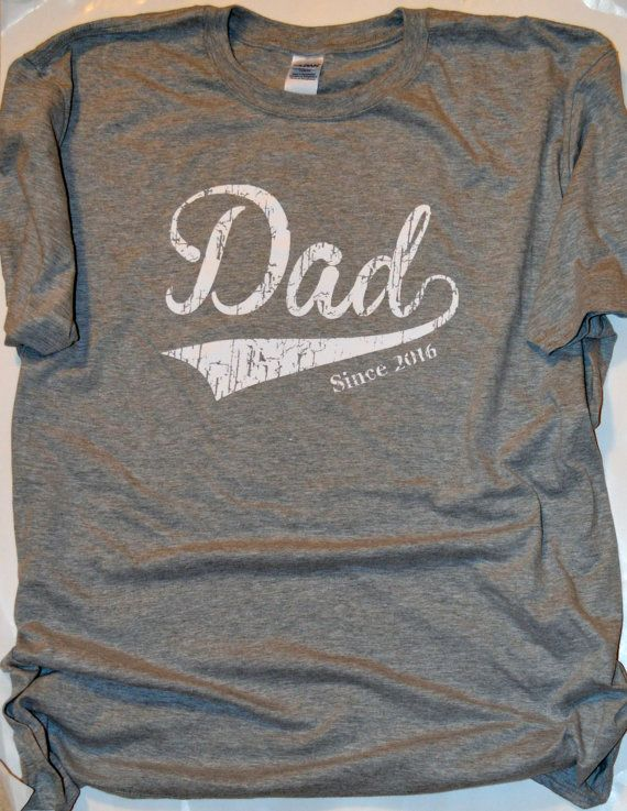 Dad Since 2016 T-Shirt.  New Father gift.  New Dad by LiveLoveTees