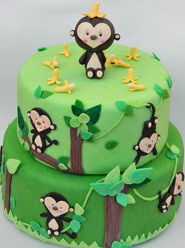 monkey cake @Lisa Phillips-Barton Phillips-Barton Mormile