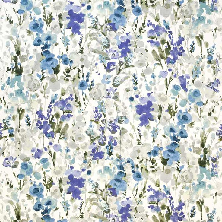 Warwick Fabrics : INGRID, Colour INDIGO