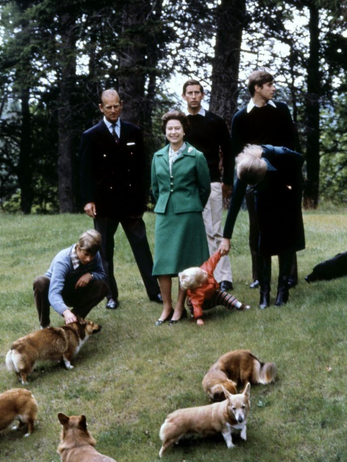 The Royal family pose for a group portrait in September 1979
