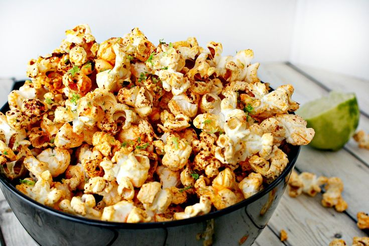 Chili and Lime Popcorn in Coconut Oil