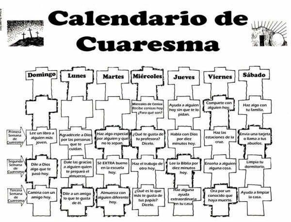 Calendario CATOLICO 2014 | Calendarios Cuaresma 2014 para imprimir y colorear